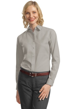 Ladies Port Authority Long Sleeve Value Poplin Shirt
